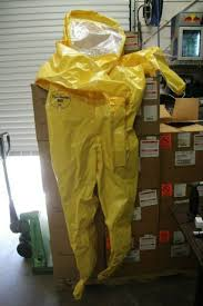 Dupont Tychem Br Level B Encapsulated Suit 9000 Series Yellow Br532 Xl New
