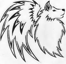 tribal wolf with wings drawing. Fine Wings On Tribal Wolf With Wings Drawing F