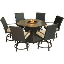 patio ideas patio table chairs and umbrella aspen creek 7 piece patio fire pit dining