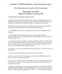 chili cook off judging sheet day hab united states special angels of the woodlands gumbo