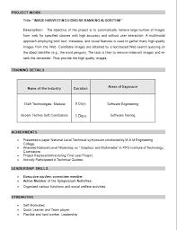 cover letter for mca fresher resume - Mca Fresher Resume Format