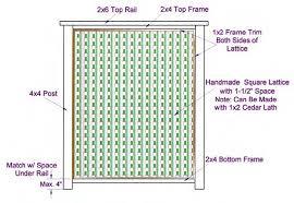 Handmade lattice privacy screen.