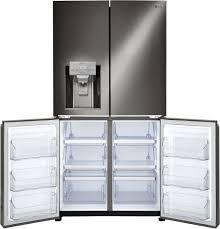 Energy Star Kitchen Appliances Lg Lnxc23766d 36 Inch Counter Depth 4 Door Refrigerator With Door