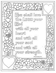 John 3 16 Coloring Pages Deuteronomy 6 5 Bible Verse To Print And
