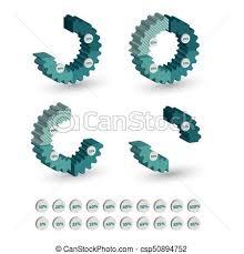 Three Dimensional Circle Gear Chart