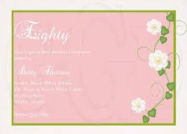 remarkable th birthday invitation luxury 80th birthday invitation