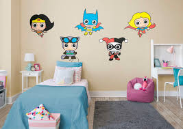 dc comics girl power collection wall decal fathead for