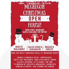 christmas open house flyer mcgregor christmas open house waco the heart of texas