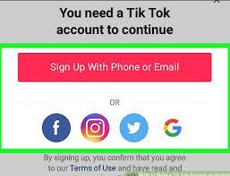 Image result for tik tok login
