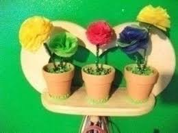 Paper Flower Pots Decorative Tissue Paper Flower Pots How To Make A Paper