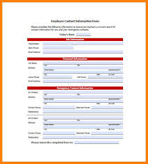 employee contact info emergency contact list template for employees business easy use
