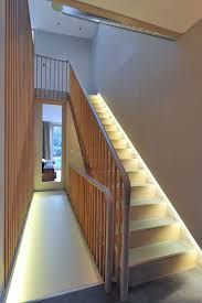 lighting for hallways and landings. Small Flat Led Lights With Transitional Staircase Also Award Banister Hallway Landing Passageway Riba Stair Railing Lighting Wooden For Hallways And Landings A