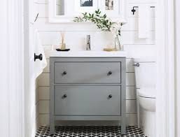 HEMNES/RATTVIKEN vanity combination with 2-drawers
