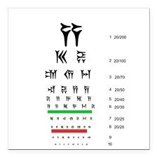 Cuneiform Chart Snellen Cuneiform Eye Ch Square Car Magnet 3 X 3