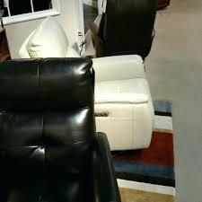 dania furniture tukwila wa light grey leather ottoman modern