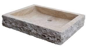 natural stone vessel sinks. Light Travertine Chiseled Rectangular Sink Intended Natural Stone Vessel Sinks