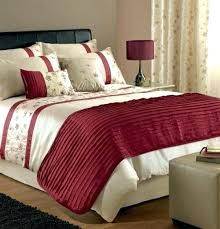 red and gold bedding sets stunning cream embroidered cotton super king size quilt regarding black embro