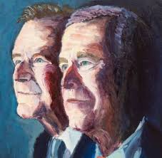 george w bush will never impress his dad not even with painting