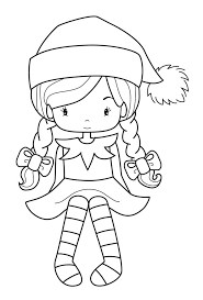 Christmas Elf Coloring Pages For Adults Littledelhisfus