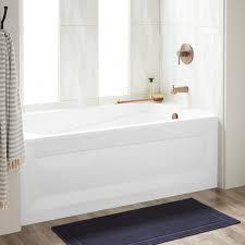 60 byrd acrylic alcove tub right white