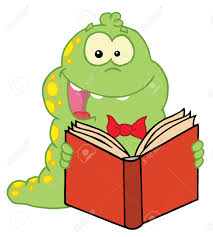 happy yellow spotted green caterpillar reading a good book