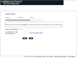 american eagle credit card paying number