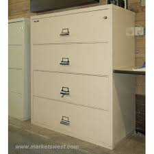 Fire Proof Filing Cabinets 4 Drawer Legal Size Fireproof Lateral File Cabinets Pre Owned
