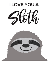 Mammal sloth slow animal jungle rainforest smile forest fauna wild hanging cartoon lazy climbing cute nature wildlife. Free Cut Files For Valentines Day Projects
