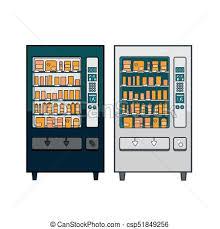 Vending Machine Clip Art Custom Lineart Vector Vending Machines Set Of Two Lineart Vector Vending