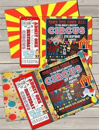 Circus Birthday Party Invitation Carnival Themed Invitations