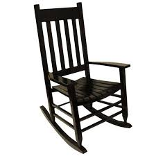black acacia patio rocking chair