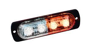 3 75 Fog Lights Amazon Com Ultra Slim 4 Watt Amber White Led Strobe Automotive