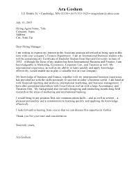 Resume Cover Letter For Internship Resume Corner