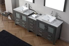 gray double sink vanity. virtu usa 90\ gray double sink vanity
