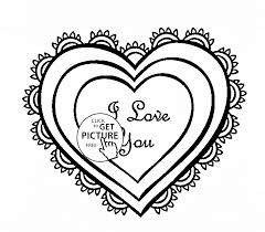Small Picture Heart I Love You coloring page for kids for girls coloring pages