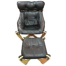 high back luna chair and ottoman by odd knutsen