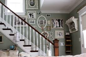 picture frames on staircase wall. Wall Decor Ideas With Picture Frame Staircase Shabby-chic Style Wood Railing Wooden Frames On R