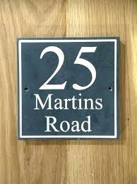 slate house number wooden numbers sign by on signs uk plaques engraved