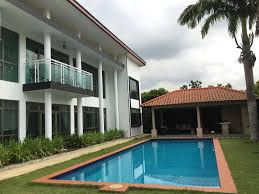 Pool And Bbq Designs Bungalow With 12m Swimming Pool Gazebo With Bbq Johor