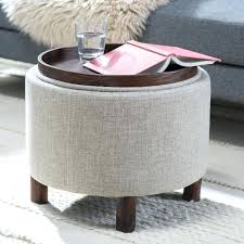 catchy round ottoman tray best ideas about on with idea storage coffee table