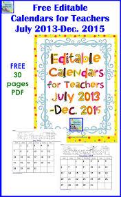 Calendar 2013 Through 2015 Free Editable Calendar For The School Year At Hand