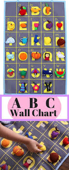 Abc Wall Chart With 26 Embroidered Felt Pieces That Stick