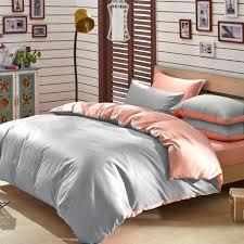 peach and grey bedding modal reversible duvet cover set peach and grey baby bedding