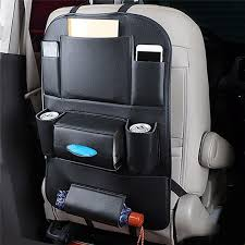 car organizer car seat back storage bag travel box multi pocket pu leather backseat hanger auto accessories interior stowing
