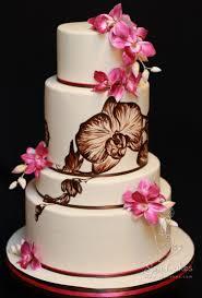 Orchid Wedding Cake Design Best Cake Blog Painted Cakes