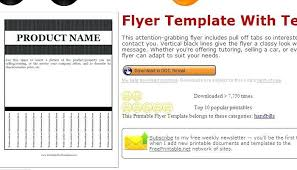 Flyer With Tear Off Tabs Template Free Filename Proto Politics