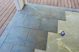 concrete patio makeover outdoor tile patio