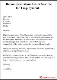Sample Letter Of Recommendation Employee Job Recommendation Letter For Former Employee Plks Tk