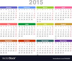 Annual Calendar 2015 Calendar For 2015 Year