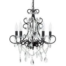 save black chandelier light21